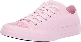 Converse Womens Unisex Chuck Taylor All Star Glitter Accent Low Top Sneaker Pink Foam, 5.5 M US