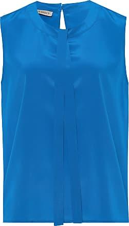 Uta Raasch Sleeveless blouse made of 100% silk Uta Raasch blue