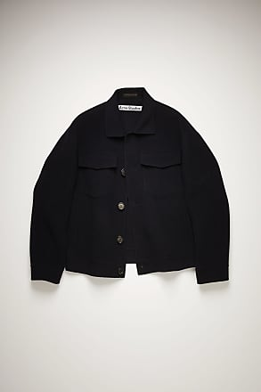 Acne Studios FN-MN-OUTW000465 Navy Wool twill jacket