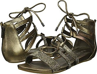 Kenneth Cole Reaction Womens 7 Lost Look Gladiator Laceup Sandal, Pewter, 7.5 M US