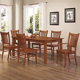 Coaster Fine Furniture Coaster Home Furnishings Marbrisa 7-Piece Rectangular Table Dining Set Sienna Brown