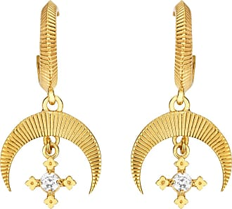 Zoe & Morgan Sacha Ohrringe Natürliches Weißes Zirkon Gold - one size | gold plated sterling silver | gold | White - Gold/Gold