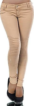 L731 Damen Hose Treggings Leggings Stoffhose Freitzeithose Röhrenhose Leggins
