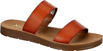 Xappeal Womens Kyley - Casual Comfort Slip On Flat Sandal Shoe Brown Size: 9 UK