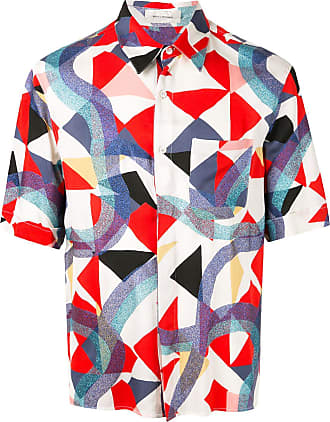 Wales Bonner geometric short-sleeve shirt - Estampado