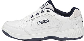 Gola Mens New Gola Wide Fit Coated Leather Lace Up Cushioned Trainers Shoes Size 7-15 - White - UK 12