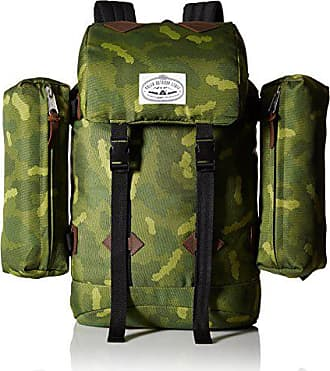 Poler Stuff Mens Classic Rucksack Backpack, Green Furry Camo, One Size