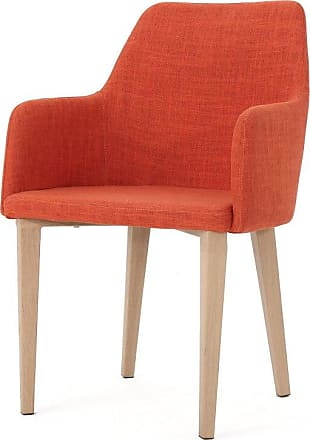 BEST SELLING HOME Alston Fabric Dining Chair - Set of 2 Muted Orange - 301272