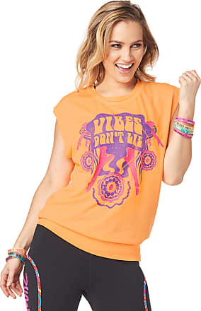 Zumba Graphic Print Dance Fitness Tank Tops Activewear Workout Tops for Women, Oh Orange, M