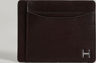 Hackett Silver-Tone h Detail Leather Book Wallet | Dark Brown