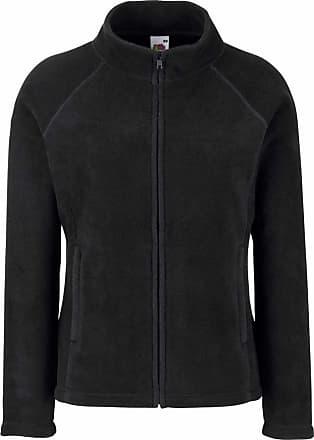 Fruit Of The Loom Ladies Lady Fit Full Zip Fleece Jacket Black