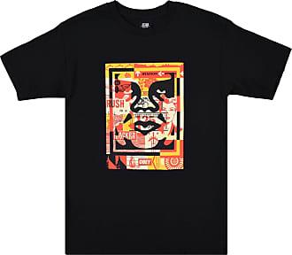 Obey 3 Face Collage T-Shirt Black Black M