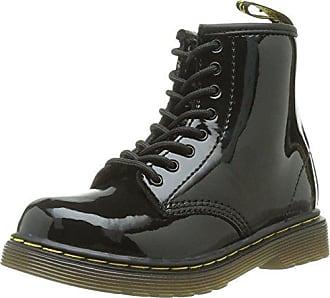 851aabda6a2f6c Dr. Martens Dr Martens Delaney Black Patent 8 eyelets Kids Leather Zip Boots  -2