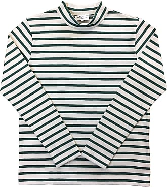 Ymc You Must Create Chino Turtle Neck Cotton Knitwear in Green and Ecru M
