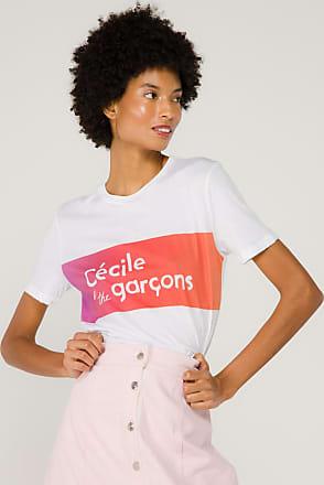 être cécile Camiseta Manga Curta Gradient de Algodão Branca - Mulher - Branco - P BR