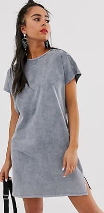 Bershka T-Shirt-Kleid in Grau