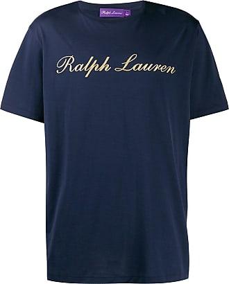Ralph Lauren Purple Label Camiseta com estampa de logo - Azul