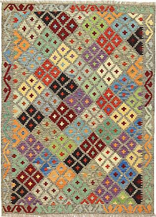 Nain Trading 205x151 Tappeto Orientale Kilim Afghan Grigio Scuro/Marrone Scuro (Lana, Afghanistan, Tessuto a mano)