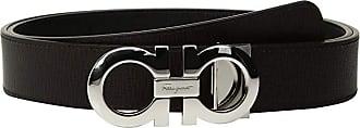 Salvatore Ferragamo Adjustable Reversible Gancini Belt - 675542 (Nero/Fondente) Mens Belts