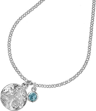 Dower & Hall Hammered Disc & 5mm Aquamarine Twinkle Pendant