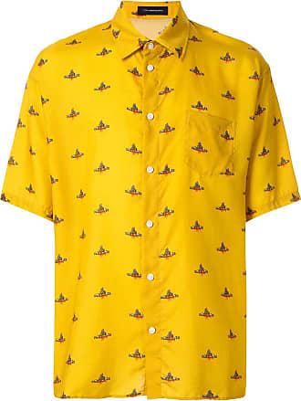 JohnUndercover Camisa com estampa de logo - Amarelo
