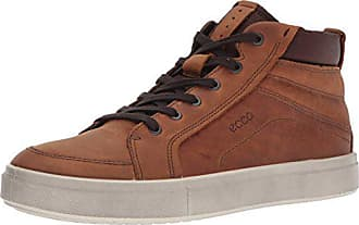Ecco Mens Kyle High Top Fashion Sneaker, Amber, 39 EU/5-5.5 M US