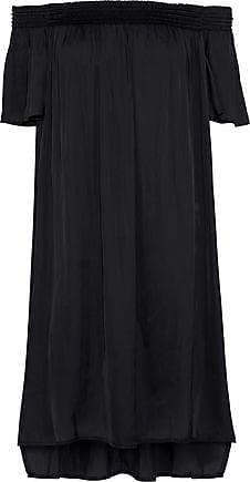 Halston Heritage Halston Heritage Woman Off-the-shoulder Crepe De Chine Mini Dress Black Size XS