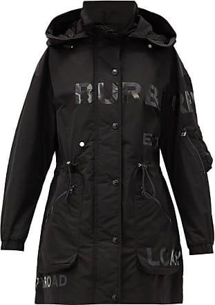 Burberry Dartmouth Logo-print Hooded Jacket - Womens - Black