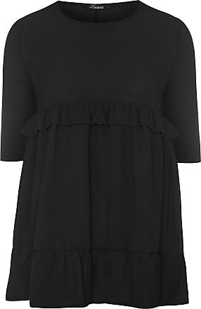 Yours Clothing Clothing Womens Plus Size Smock Dress Size 18 Black