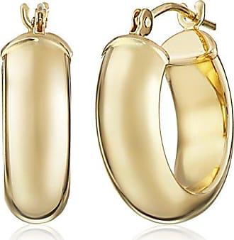 Amazon Collection 14k Yellow Duragold Hoop Earrings