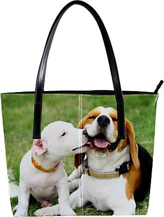 Nananma Womens Bag Shoulder Tote handbag with Jack Russell Print Zipper Purse PU Leather Top-handle Zip Bags