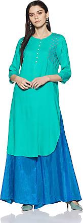 Indigo Womens Straight Kurti (AW-18/IND-807C_Turquoise_S)