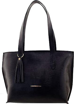 Arzon Bolsa Feminina de Couro Black - Black