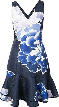 Natori Vestido com estampa - Azul