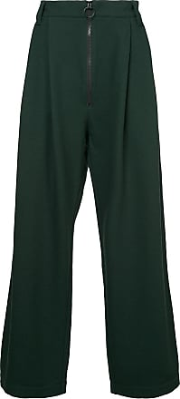Ex Infinitas zipped wide leg trousers - Preto