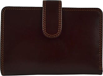 Visconti LADIES Top Quality ITALIAN LEATHER Purse/Wallet by Visconti; Monza Gift Boxed (Brown)