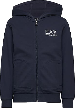 Emporio Armani Hoodie Zip Sweatshirt Hoodie Blå EA7