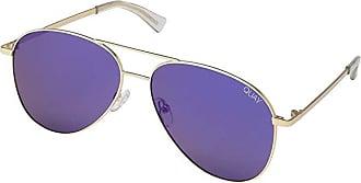 Quay Eyeware Still Standing (Gold/Blue) Fashion Sunglasses