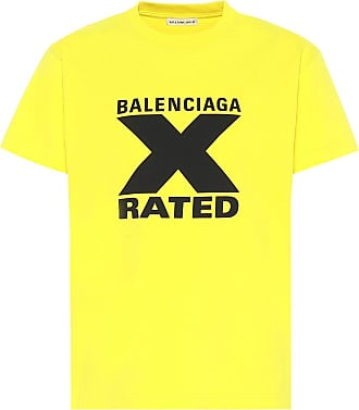 Balenciaga Bedrucktes T-Shirt aus Baumwolle
