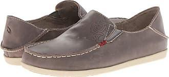 Olukai Nohea Nubuck (Dark Java/Tan) Womens Slip on Shoes