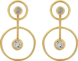 Zoe & Morgan Aurora Gold und Morganit Ohrringe - ONESIZE | gold plated sterling silver | gold | brown - Gold/Gold