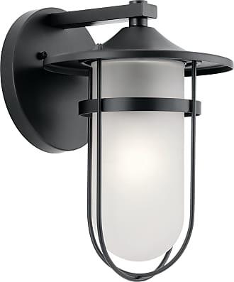 Kichler Finn Outdoor Wall 1 Light in Black