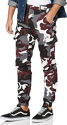Urban Classics Mens Cargo Jogging Pants 2.0 Trouser, Multicolour (Wine Camo 02244), 24 (Size: 32)