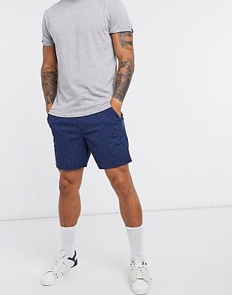 Hollister Prep - Shorts in Blau mit geometrischem Print