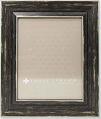 Lawrence Frames Weathered Decorative Picture Frame, 8 by 10-Inch, Black