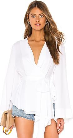Bcbgmaxazria Wrap Blouse in White