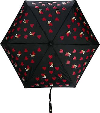 Moschino heart pattern umbrella - Black