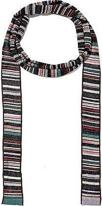 Missoni Missoni Woman Metallic Striped Crochet-knit Scarf Multicolor Size