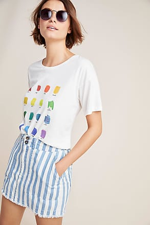 Anthropologie Rainbow Color Swatch Tee