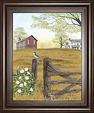 Classy Art Morning Glory by Billy Jacobs Framed Print Wall Art, Brown